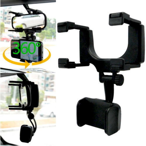 Universal 360 Car Rearview Mirror Mount Stand Holder Cradle For Cell Phone GPS Car Rear View Mirror
