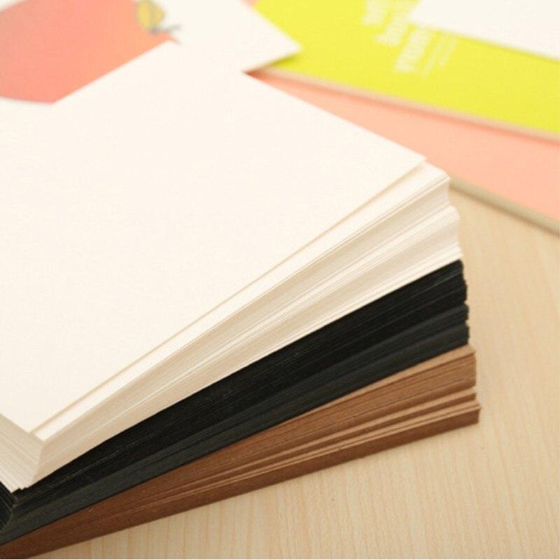 Винтажные креативные открытки 20 шт. в упаковке, пустые открытки из крафтовой бумаги, черные подарочные открытки, приглашения вечерние ринку