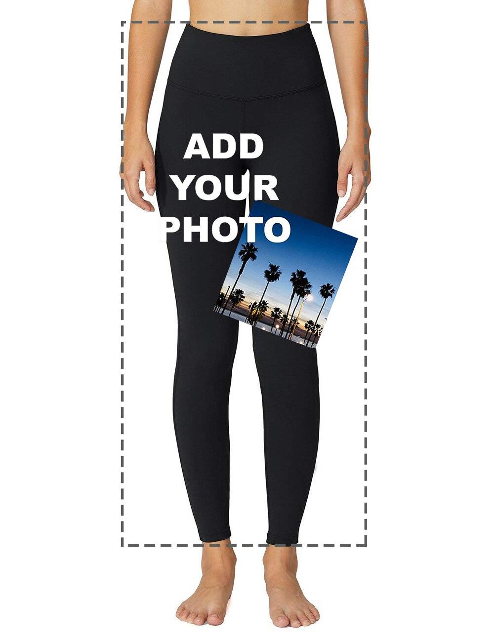 Mallas deportivas personalizadas con el logotipo de tu foto para mujer diseño de estampado Digital personalizado