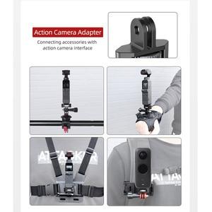 Image 5 - Металлический адаптер для крепления камеры регулируемый велосипедный фиксированный держатель зажим 1/4 винт для DJI OSMO Pocket 2 Insta360 ONE X2 аксессуары для камеры s