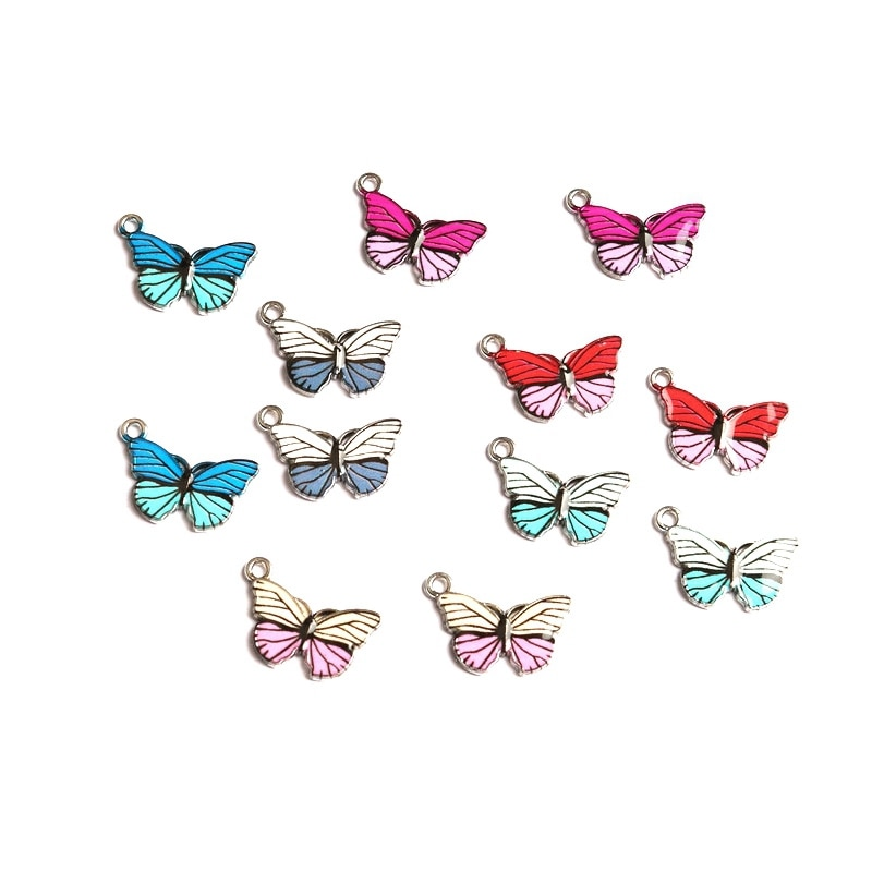 New Mini Cute Butterfly Alloy Pendant DIY Handmade Supplies Couple Gifts Holiday Souvenir Children C