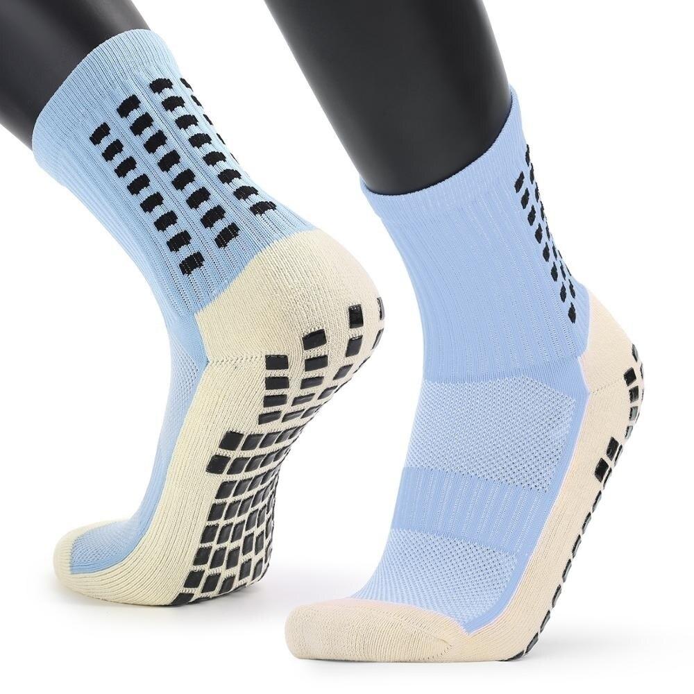 Спортивные Новые мужские носки с толстой подошвой, мужские Нескользящие носки средней длины, баскетбольные носки, спортивные чулки