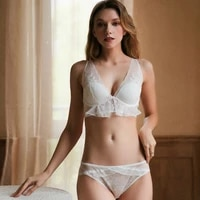 new french style underwear set push up bra and panties set lace breathable brassiere gather sexy underwire bralette lingerie set