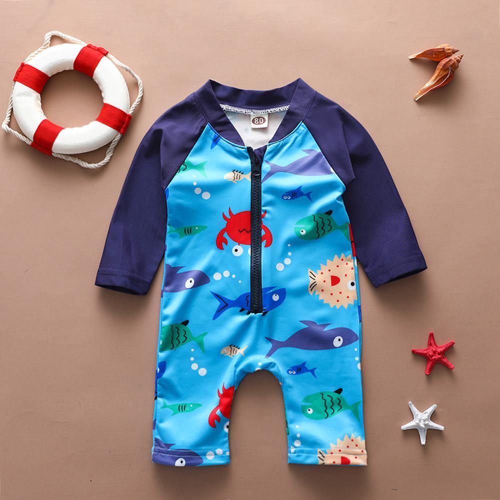 2020 Baby Summer Swimwear Clothes Toddler Newborn Infant Baby Boys Girls Cartoon Swimsuit  Jumpsuit Swimwear Bathing Suit