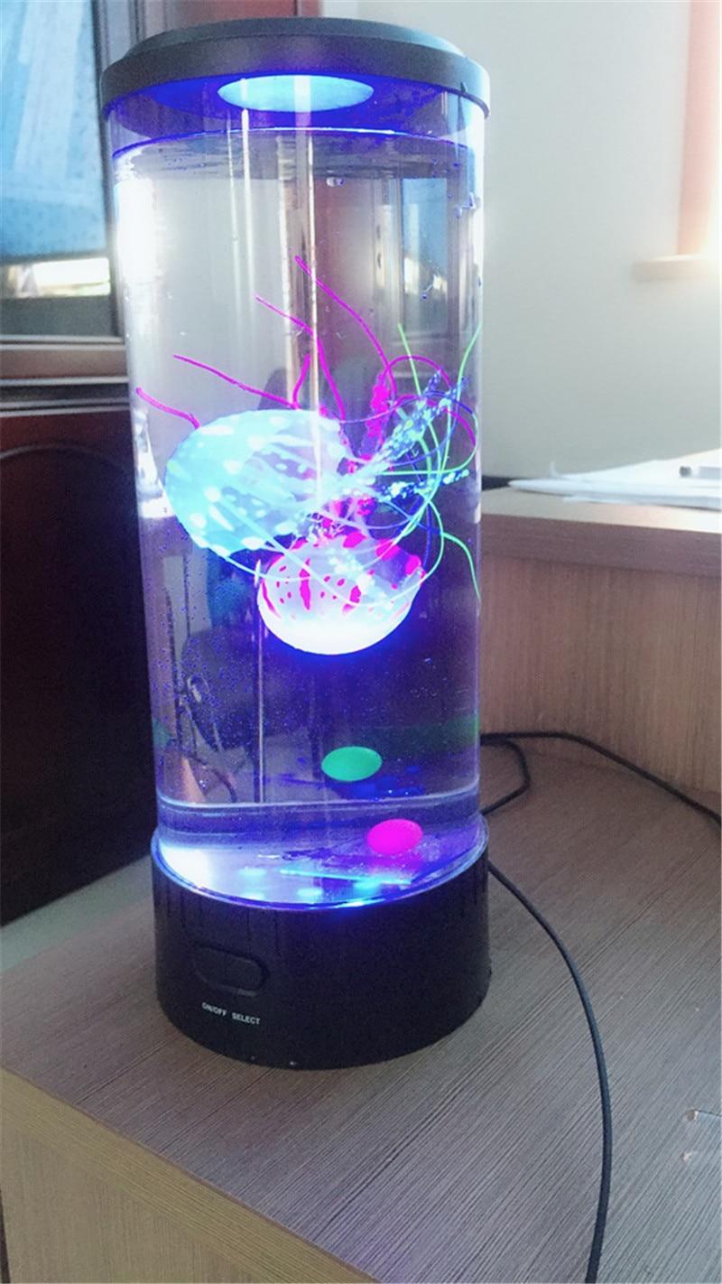 Jellyfish Lamp Led Night Light Bedside Lamp Desktop Atmosphere Color Changing Childen Table USB Powered LED Night Light Hypnotic enlarge