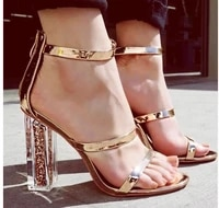 2021 summer sexy sandals transparent colorful high heels stiletto round toe women sandalias party wedding fashion shoes woman