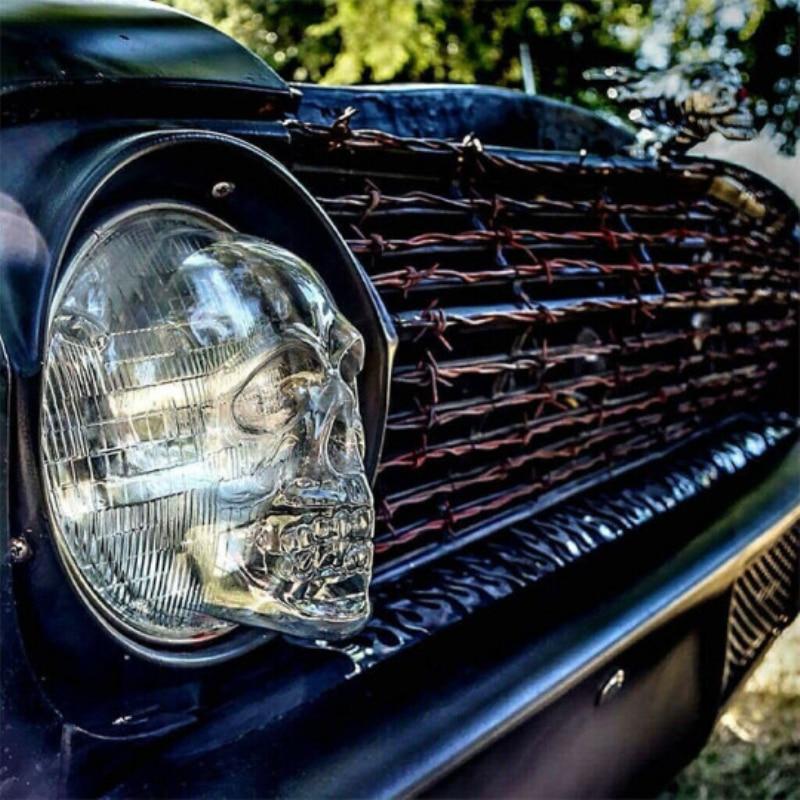 Car Headlight Covers Car Front Fog Light Lamp Hoods Bulb Cover Truck Auto Universal Decor Protective Head Lamp Accessory