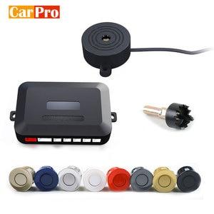 CarPro 12V 22mm Car Parking Sensor Kit Universal 4 Sensors Buzzer Reverse Backup Radar Sound Alert Indicator Probe System