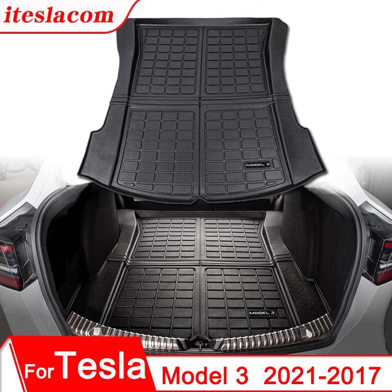 Коврик для багажника Tesla, обновленная модель 3 2021, коврик для багажника, напольный коврик с логотипом Model3