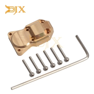 DJX Brass Differential Cover Axle Cover for Axial SCX24 AXI90081 AXI00002 1/24 RC Crawler Upgrade Parts Accessories