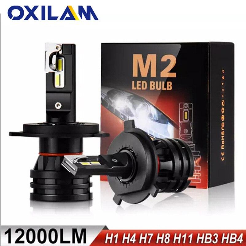 OXILAM Car Lights LED H7 16000LM H11 LED Lamp for Car Headlight Bulbs H4 H1 H8 H9 9005 9006 HB3 HB4 Turbo H7 LED Bulbs 12V 24V