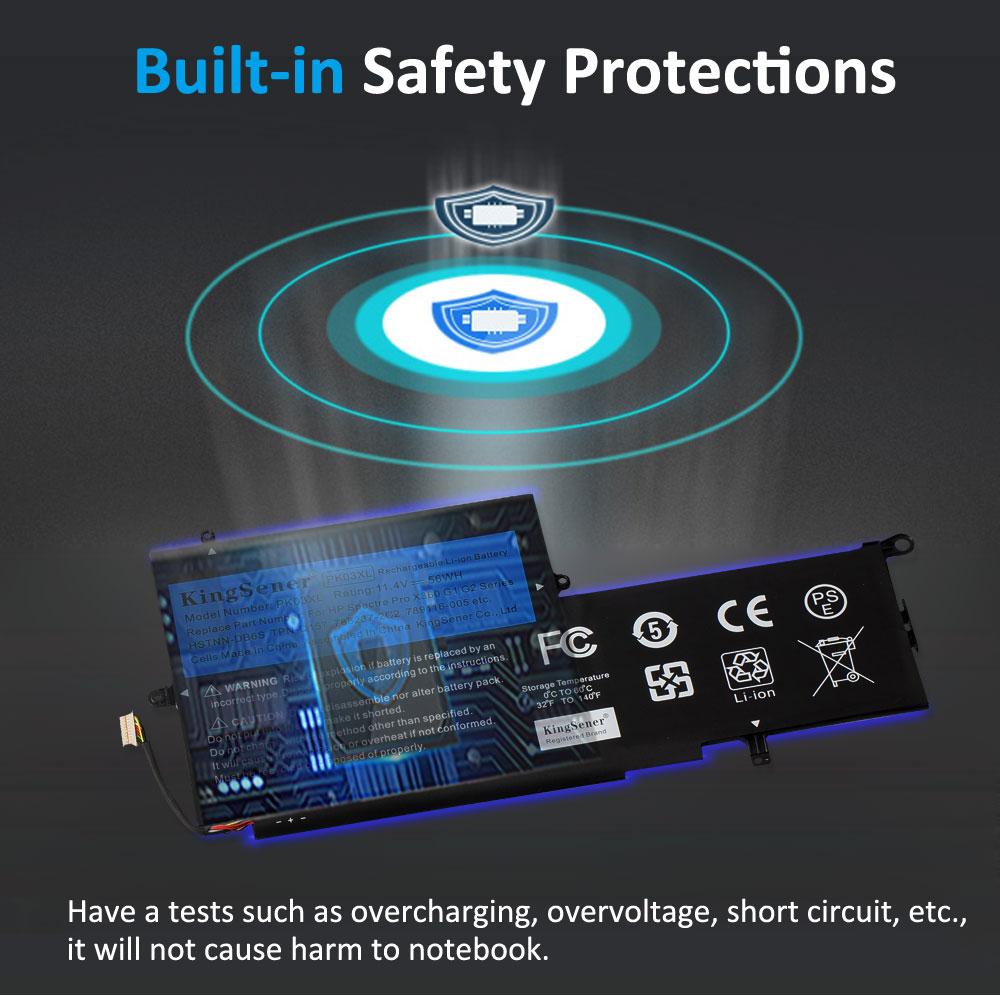 Купить с кэшбэком KingSener New PK03XL Laptop Battery for HP Spectre Pro X360 13 G1 Series  M2Q55PA M4Z17PA HSTNN-DB6S 6789116-005 11.4V 56W