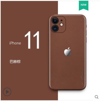Funda de cuero auténtico de lujo para iphone 11 pro, Funda de cuero de 360 grados para iphone 11 pro max, Funda de cuero pegada