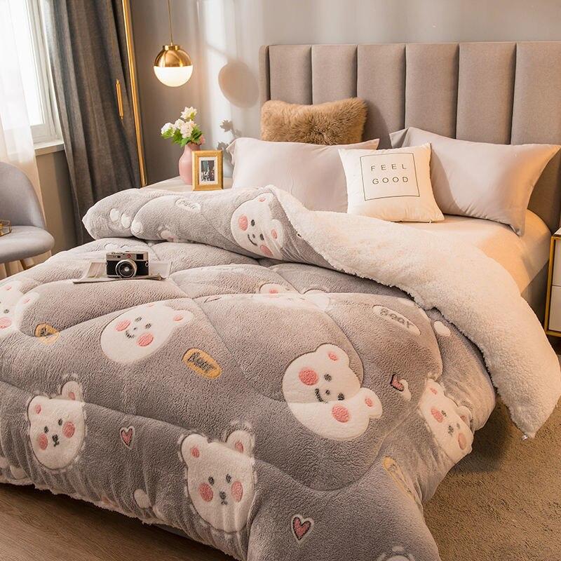 الفاخرة ماجيك المخملية حاف الغطاء ، واحدة/مزدوجة/الملكة/الملك الحجم شتاء دافئ رشاقته غطاء لحاف السرير ، أفخم المفارش ، طقم سرير