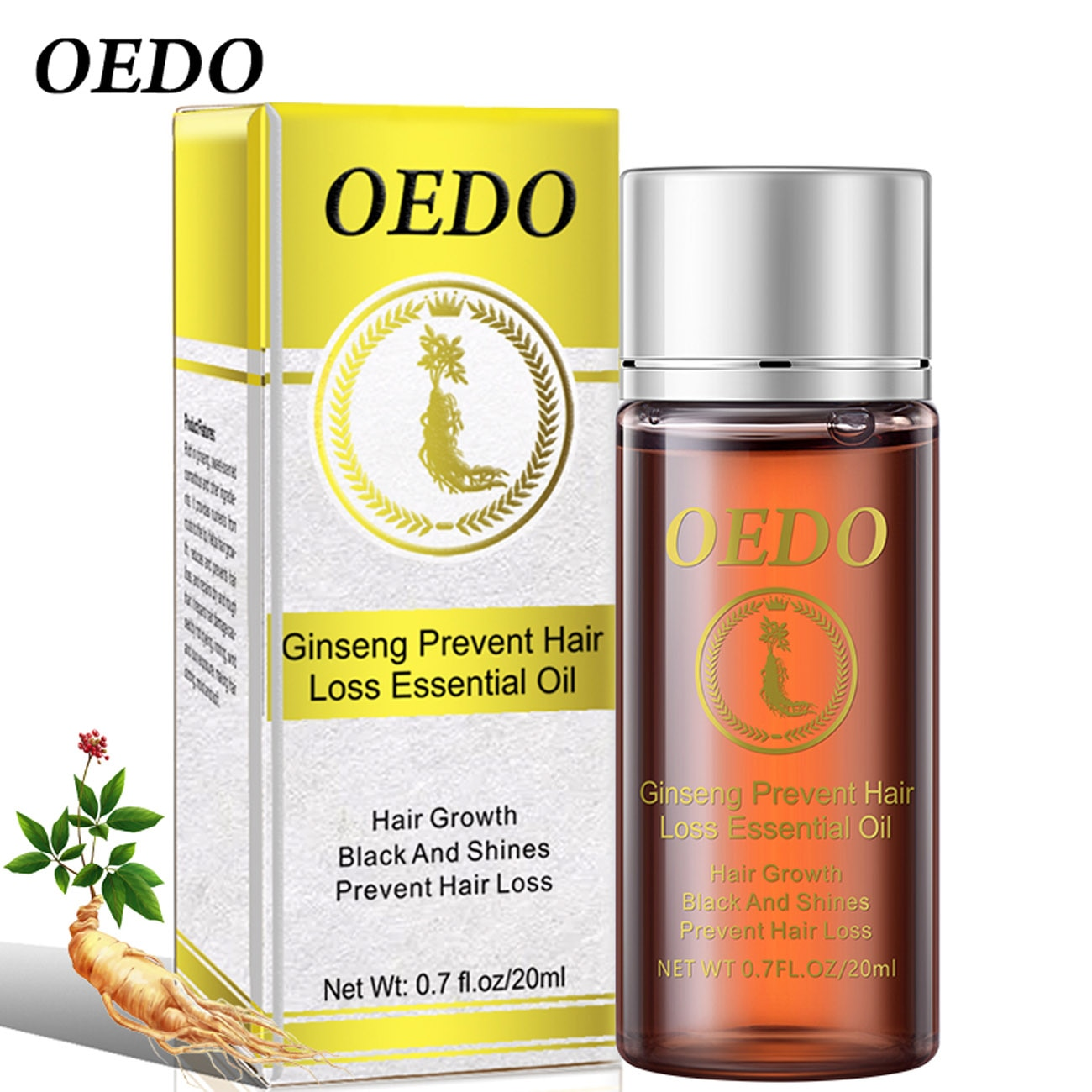 OEDO Ginseng Hair Growth Essence Preventing Loss Essential Oil Repair Damage Nourish Roots Accelerate