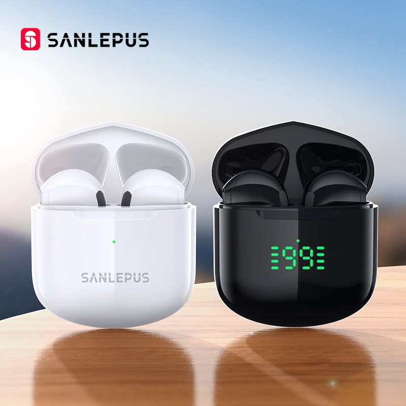 سماعات أذن لاسلكية بلوتوث من SANLEPUS SE12 Pro ، سماعات أذن TWS للألعاب ، سماعة أذن ستيريو هاي فاي مع ميكروفون لهاتف شاومي iOS وأندرويد