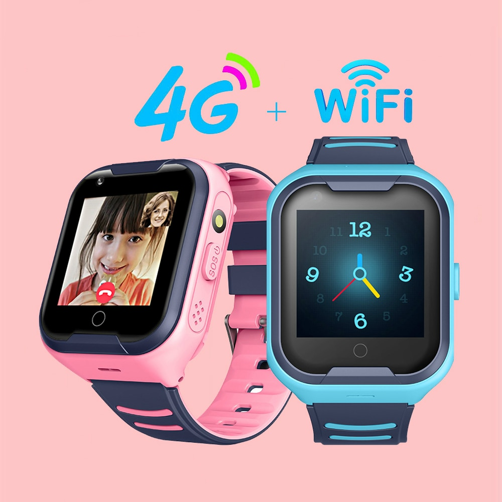 2020 Kids Smart Watch SOS Anti-lost Baby 4G SIM Card GPS WIFI Call Location LBS Tracking Smartwatch