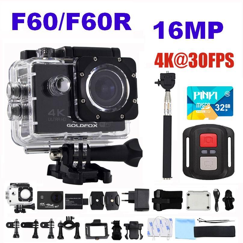 GOLDFOX H9 Style Action Camera Ultra HD 4K 30fps 16MP Wifi Action Sport Camera 170D 30m Go Waterproof Pro Helmet Mini Camera DVR