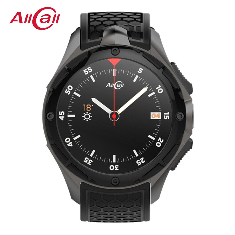 ALLCALL W1 3G ساعة ذكية للرجال ساعات رياضية IP68 مقاوم للماء 2GB 16GB SIM واي فاي لتحديد المواقع رجل ساعة ذكية للهاتف أندرويد IOS