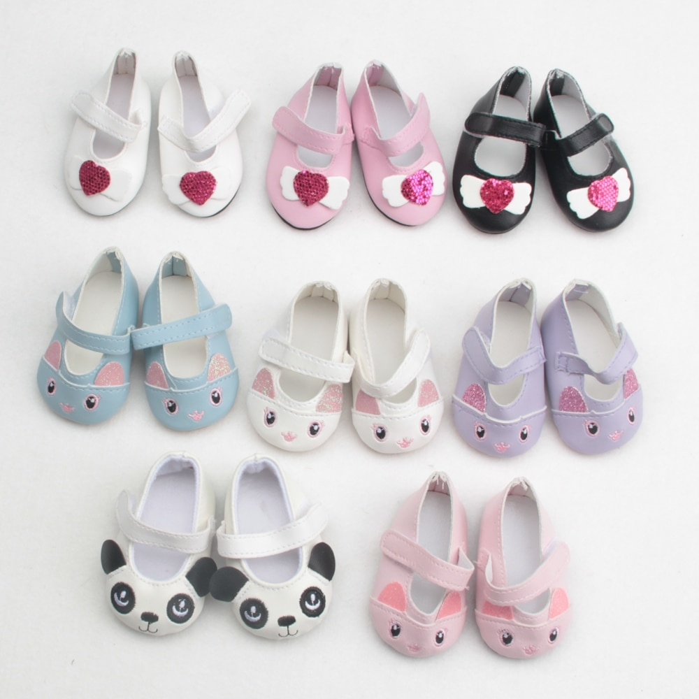 Wholesale 18 inch American Doll Shoes  43cm Baby Dolls Shoes For New Born Baby Cute Doll Accessories Gift For Girl недорого