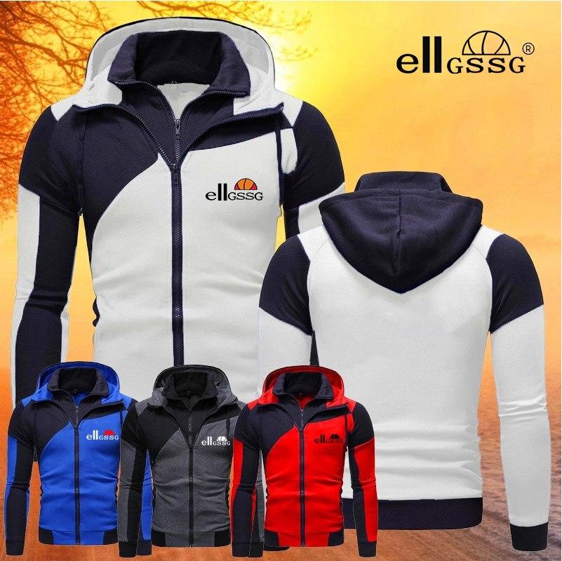 Осенне-зимняя новая мужская куртка приталенная куртка на молнии с капюшоном мужская однотонная хлопковая Толстая теплая толстовка пальто ...