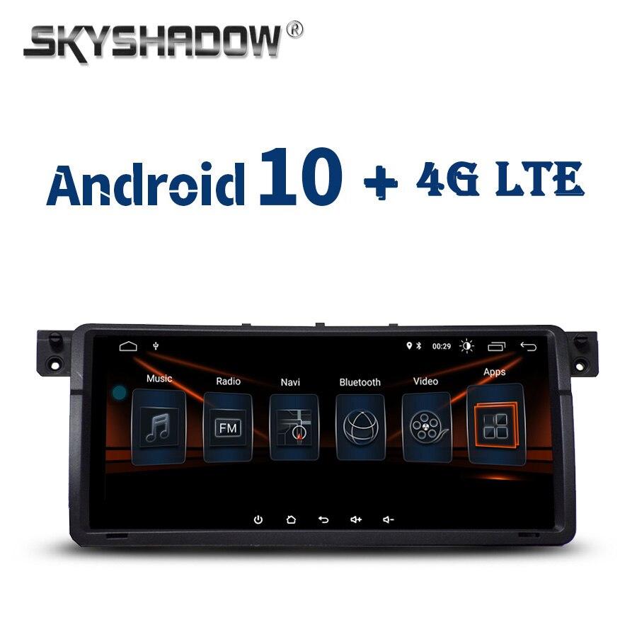 8,8 pulgadas Android 10,0 2GB + 32GB 64GB 4G LTE reproductor de DVD del coche GPS mapa WIFI Bluetooth RDS Auto Radio para BMW 3 E46 M3 Rover 75 MG ZT