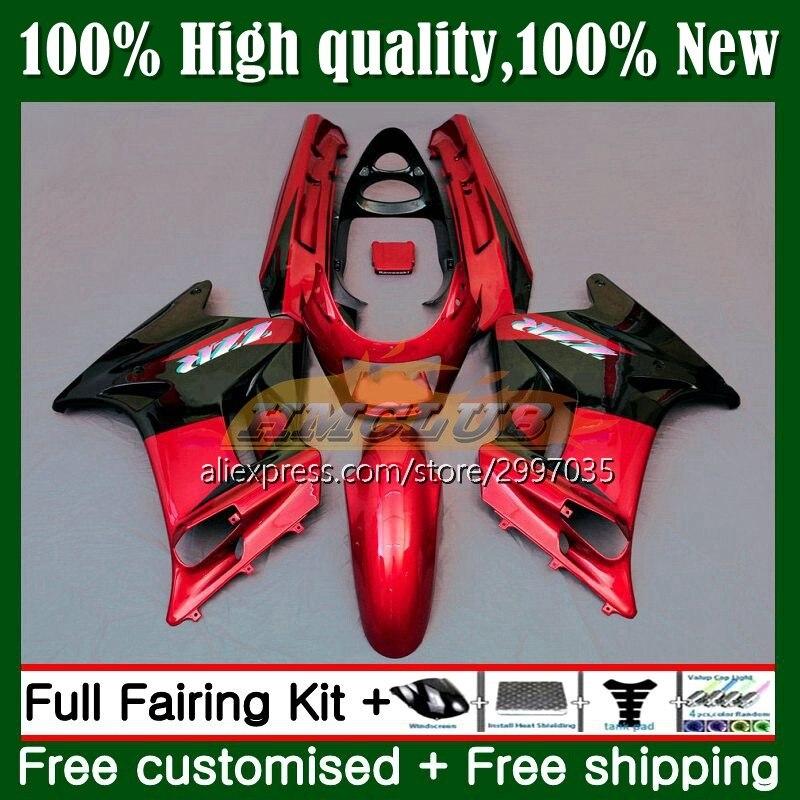 الجسم ل كاوازاكي نينجا ZZR250 ZZR 250 7No.33 ZZR-250 1990 1991 1992 1993 1994 ZXR250 95 96 97 98 99 Fairings عدة ضوء الأحمر أعلى