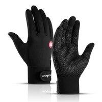 autumn and winter outdoor sports men and women waterproof windproof warm gloves riding touch screen zipper ski full finger glove