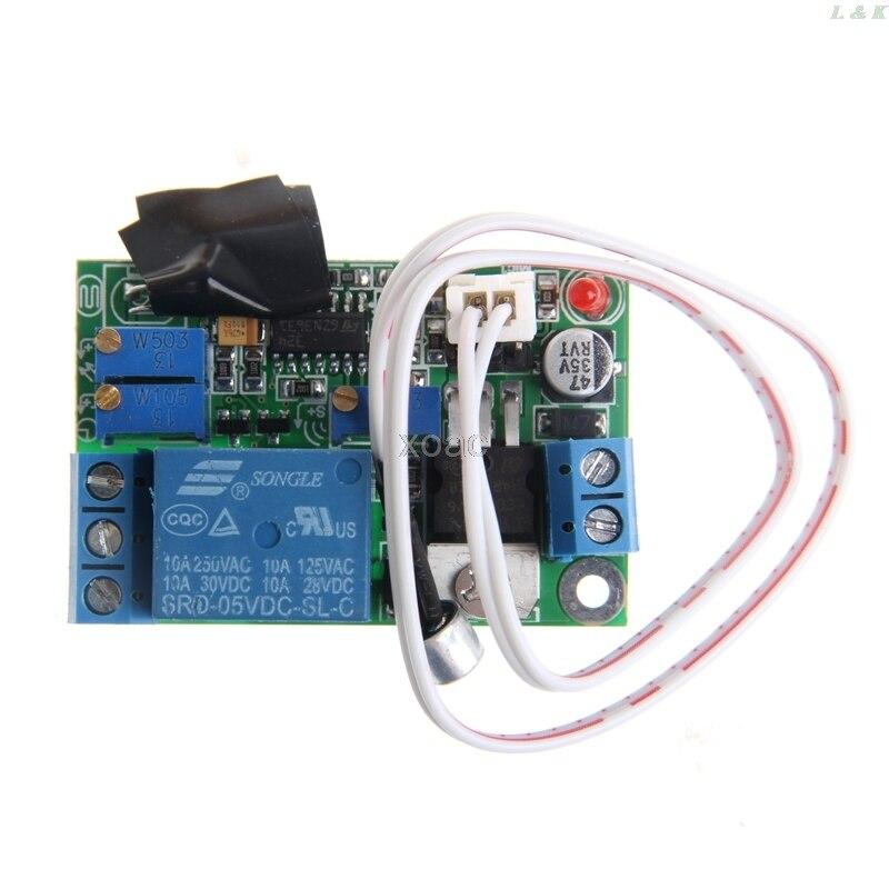 Module de commande de lumière sonore   Interrupteur de relais, capteur de temporisation 5 V 12 V 24 V réglable M04 livraison directe