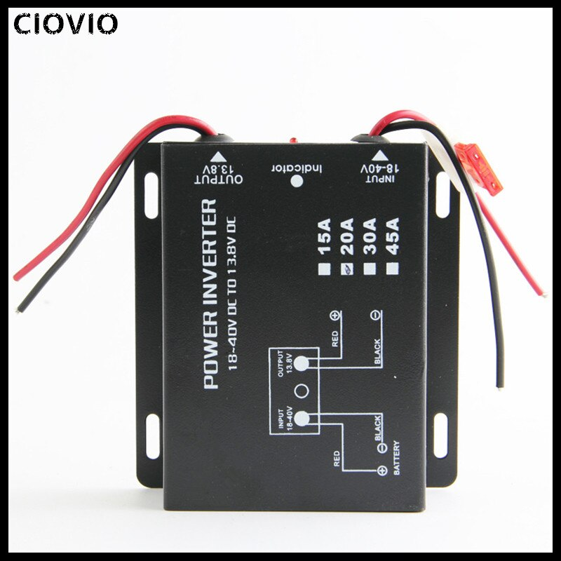 Inversor de corriente para radio de coche CIOVIO/transformador VHF 24V a 13,8 V/conversión de 12V/regulador buck
