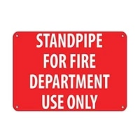 nice safety warning metal signs 8x12standpipe for fire department use only fire signunique gifts gifts metal retro wall decor