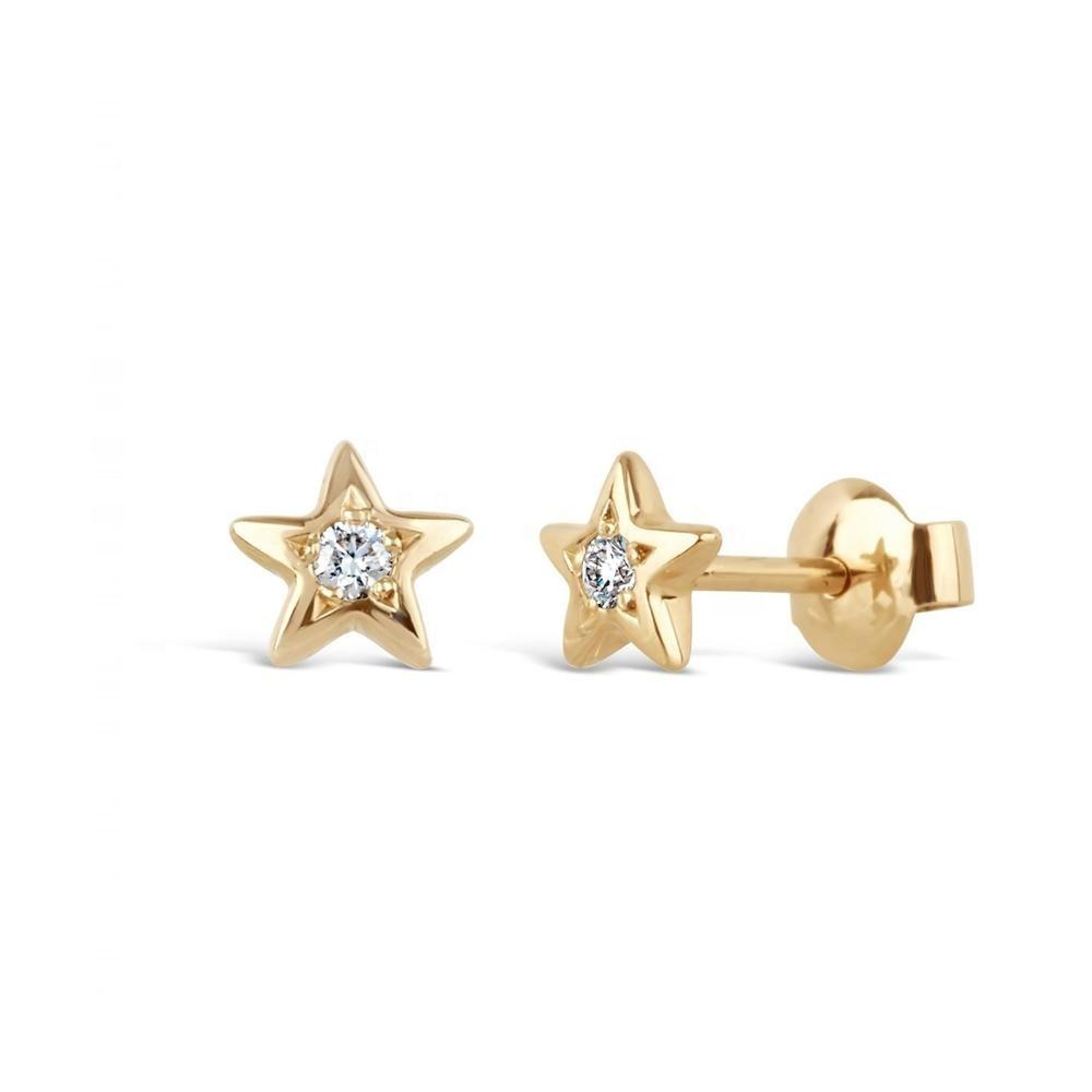 LOZRUNVE Luxus Jewel 925 Sterling Silber Diamant CZ Minimal Mini Sterne Bolzen