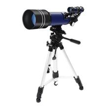 ABHU-teleskop astronomiczny 70mm teleskop refrakcyjny księżyc oglądania dla dzieci dorośli astronomii początkujących 16X 67X obiektyw z Finder