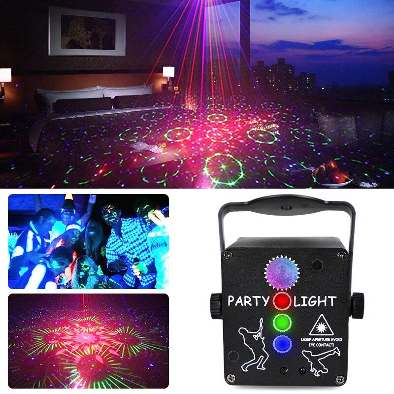 Профессиональный Сценический диско-свет, DJ-контроллер, звуковая музыка, УФ светильник для вечерние, s-лучевой проектор, светодиодная лампа для дома, рождественского клуба, бара