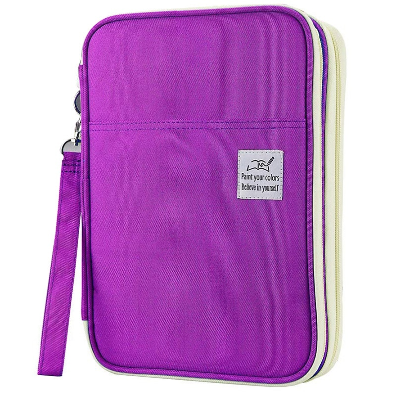 192 Slots Large Capacity Pencil Bag Case Organizer Cosmetic Bag for Colored Pencil Watercolor Pen Markers