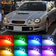 RF télécommande Bluetooth APP multicolore Ultra lumineux rvb LED ange yeux kit pour Toyota Celica ST202 ST205 1994-1999 Kouki phare
