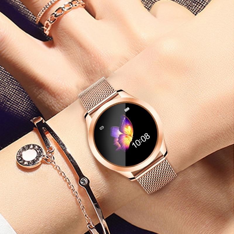 Vwar Smart Watch Women IP68 Waterproof Heart Rate Monitoring Bluetooth For Android IOS Fitness Bracelet VS KW20 Smartwatch KW10