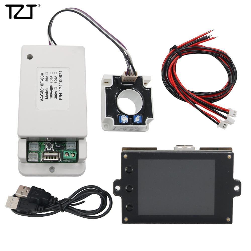 Medidor de Monitor de batería TZT inalámbrico CC 80V 100A VOLT AMP AH SOC capacidad restante