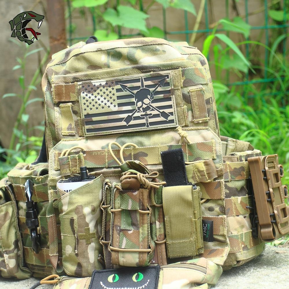 "T.S.N.Kgear entusiastas militares parche bordado insignia táctica del Ejército ""MC Multicam USA Bandera de gran tamaño"" brazalete"