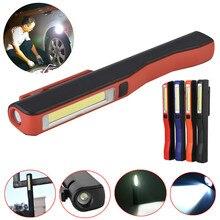 Lampe de poche Rechargeable USB COB LED stylo magnétique lumière torche lumière de travail pour Camping lanterne tactique veilleuse livraison directe