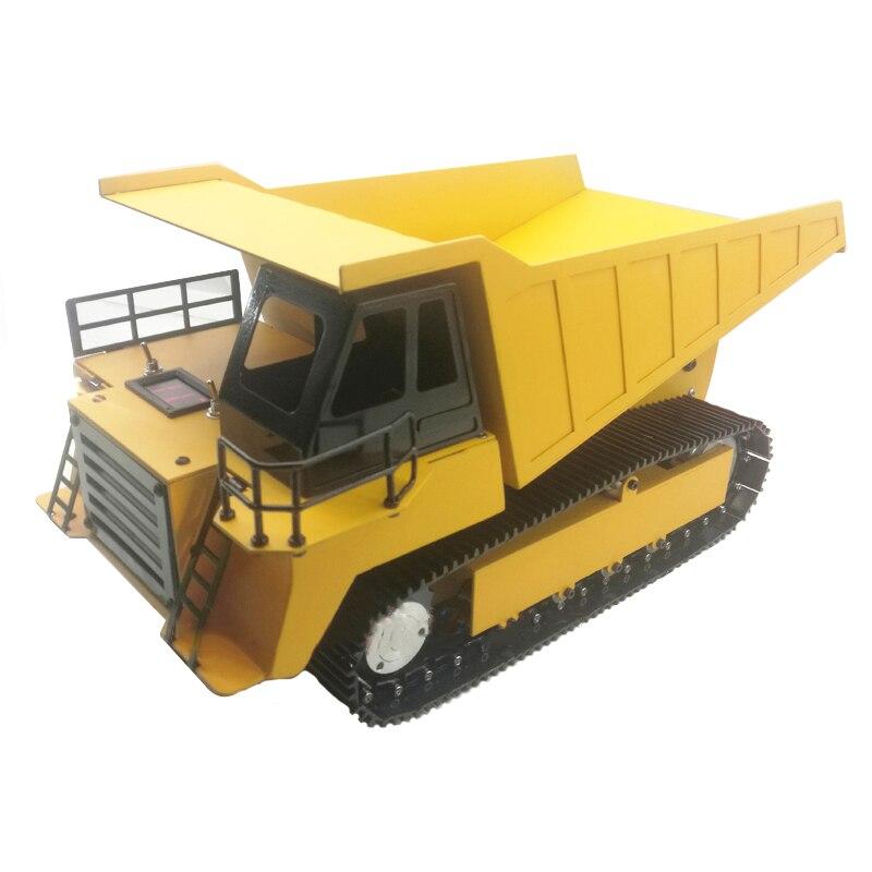 شاحنة قلابة معدنية بالكامل مع جهاز تحكم عن بعد ، نموذج مركبة هندسية ، شاحنة قلابة ، مسار معدني
