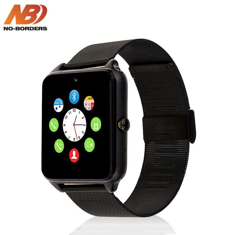 KEINE-GRENZEN GT08/Z60 Smart Uhr Plus Metall Strap Bluetooth Handgelenk Smartwatch Unterstützung Sim TF Karte Für Android IOS PK S8 IWO 8