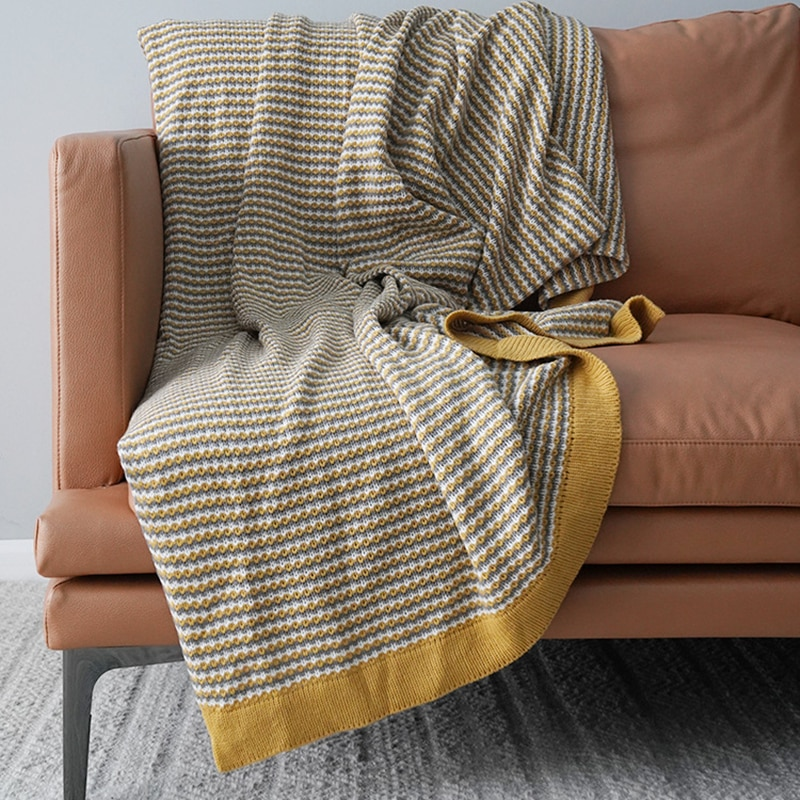 Cutelife-بطانية أريكة مربعة محبوكة ، ناعمة ومريحة ، دافئة ، لغرفة المعيشة ، ديكور المنزل