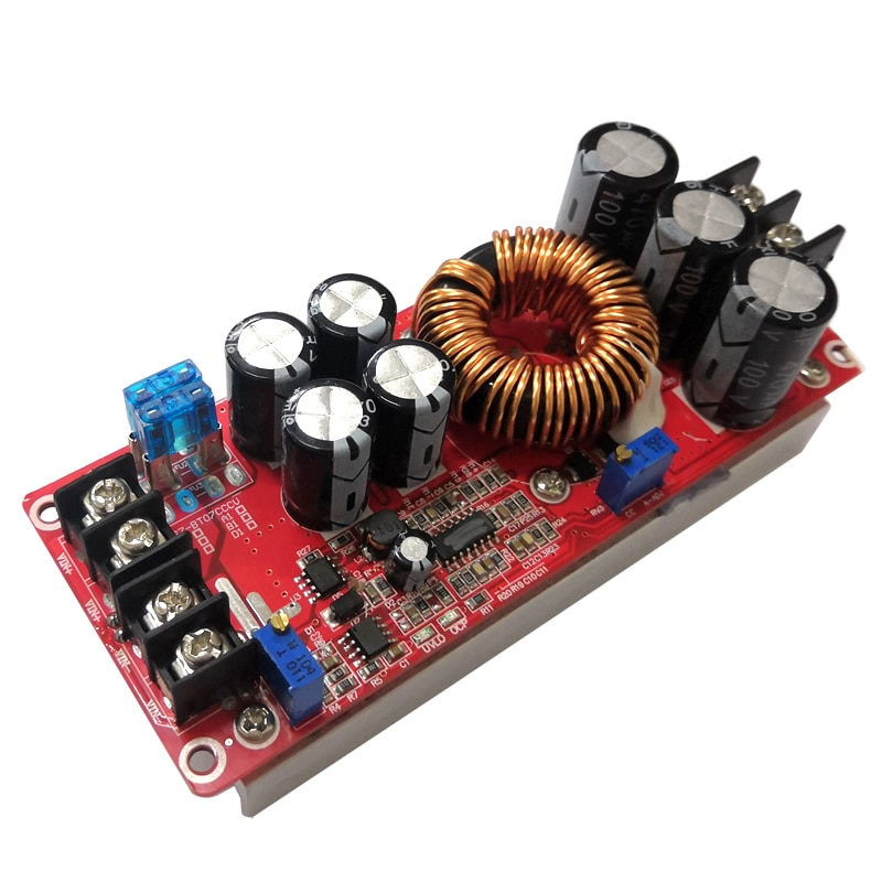 Módulo de suministro de potencia de impulso DCDC 1200W, módulo regulador de voltaje, módulo de carga de refuerzo