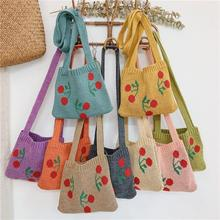 Cute Cherry Children Small Handbag Knitted Woolen Baby Girl Shoulder Bag Winter Vintage Boy Kids Min