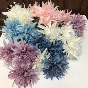 10Pcs Simulation of 3 Heads of Anemone Flowers Home Decoration Artificial Silk Flower Wedding Flower Arrangement Epiphyllum