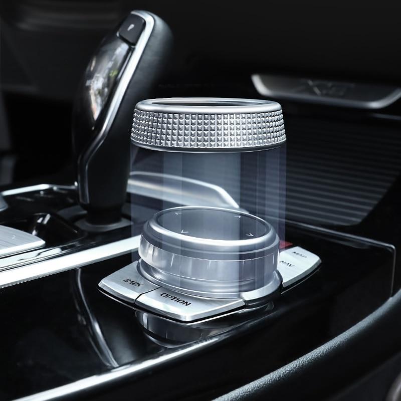 For BMW X3 G01 X45 series G30 G38 For iDrive Car Multimedia Button Cover Trim Knob Sticker  for NBT Controller Chrome Button