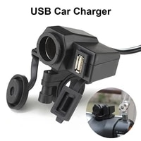 12v motorcycle cigarette lighter socket with 2 1a usb charger waterproof dustproof power adapter handlebar mount