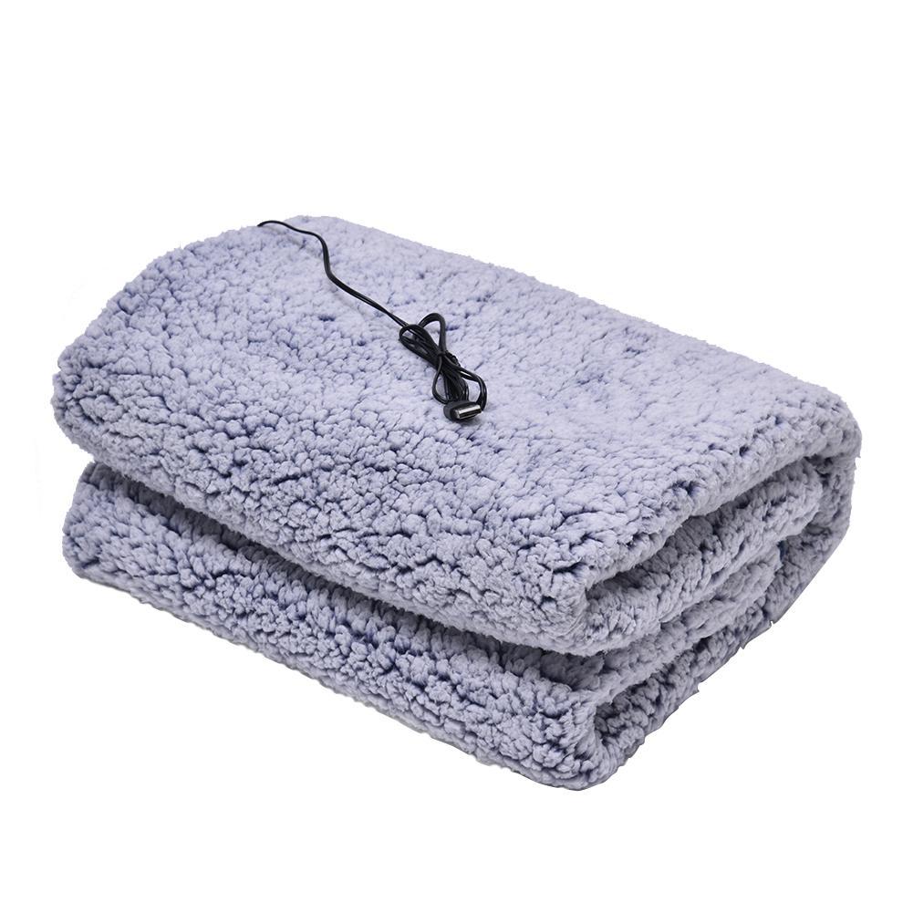 بطانية تدفئة التدرج القطن بطانية صوف كهربية لينة الكهربائية USB بطانية آلة قابل للغسل للمنزل السفر مكتب 110 سنتيمتر 70 سنتيمتر