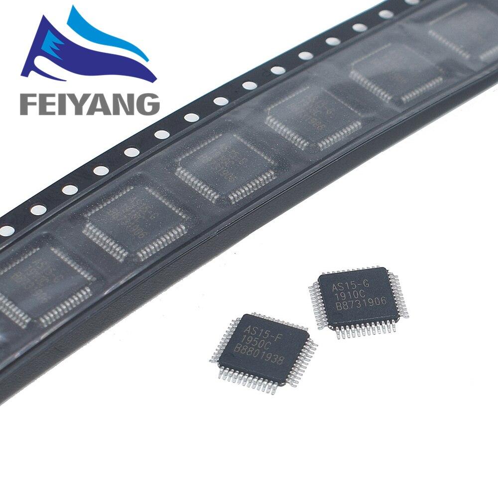 10 unids/lote AS15-F AS15F AS15-G AS15G AS15-U AS15U QFP48 AS15 chip LCD Original E-CMOS